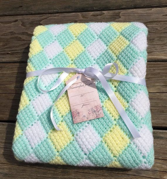 Custom order crocheted Stroller blanket. by EverythinginStitches