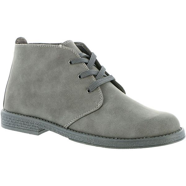 Scott David Reid (Boys' Toddler-Youth) ($40) ❤ liked on Polyvore featuring shoes, grey, grey desert boots, grey shoes, desert bootie, gray shoes and desert ankle boots