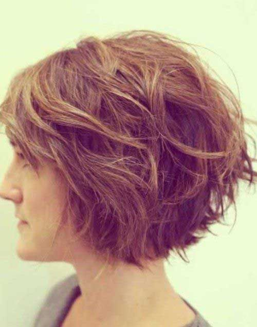 Short Thick Wavy Hair Style
