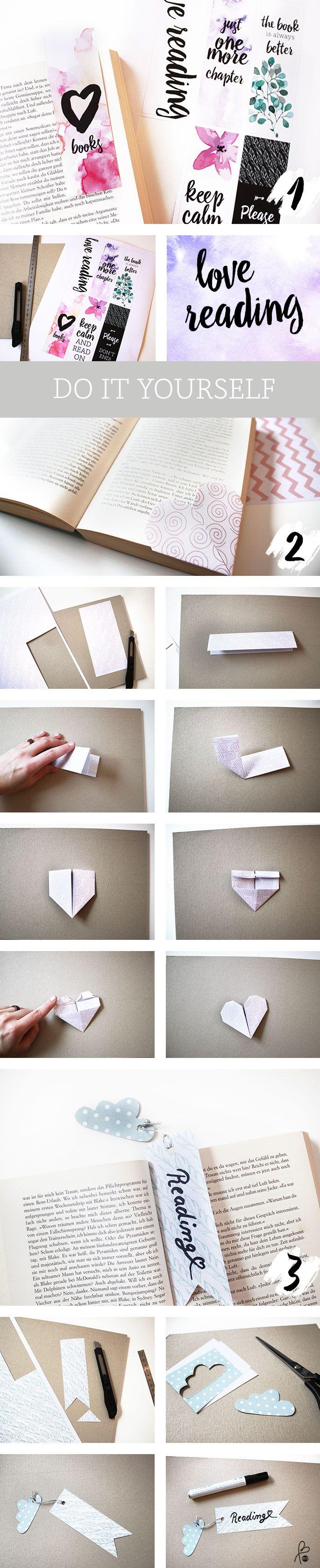 DIY / 3 Ideas / Lesezeichen selbst machen / sppiy printityourself.de