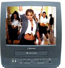 Kids got to watching music videos in the 90s on their own tv with built in vcrs.. lucky