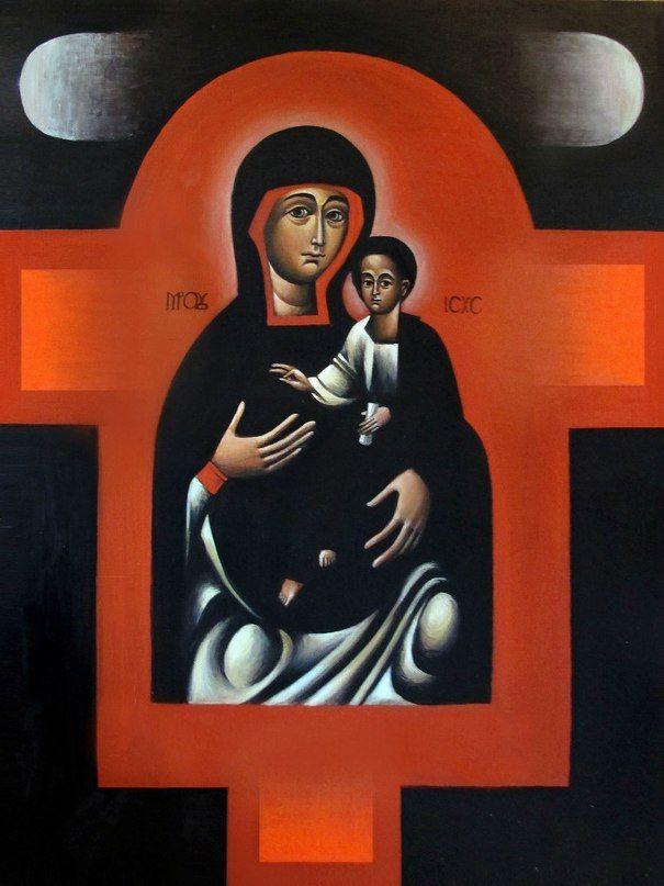 Virgin with the Child - Myhailo Skop 2015