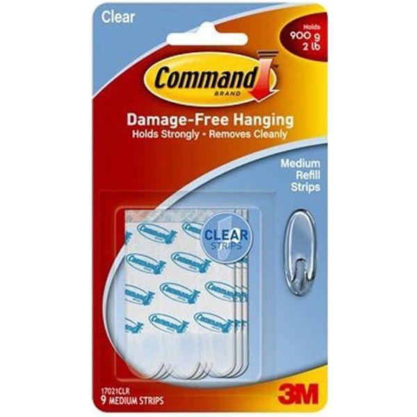 3M Command™ Clear Medium Refill Strips 17021CLR - Jual Strips Perekat u/ Menempelkan Command Hooks pd Dinding  3M Command™ Clear Medium Refill Strips 17021CLR  - Tidak merusak dinding - Mudah dipasang - Dapat dilepas tanpa meninggalkan bekas di dinding - Melekat Kuat. http://tigaem.com/eceran-per-satuan/1562-3m-command-command-clear-medium-refill-strips-17021clr-jual-strips-perekat-u-menempelkan-command-hooks-pd-dinding.html  #command #perekat #3M