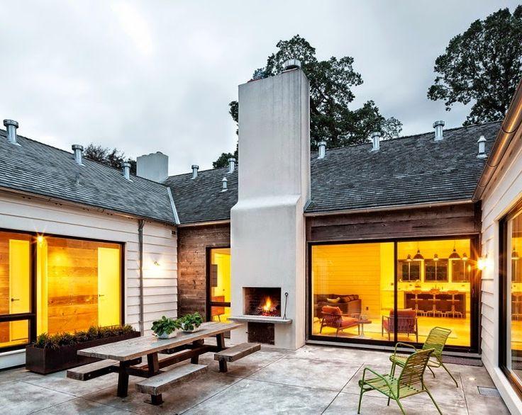 Die besten 25+ Farmhouse outdoor fireplaces Ideen auf Pinterest ...