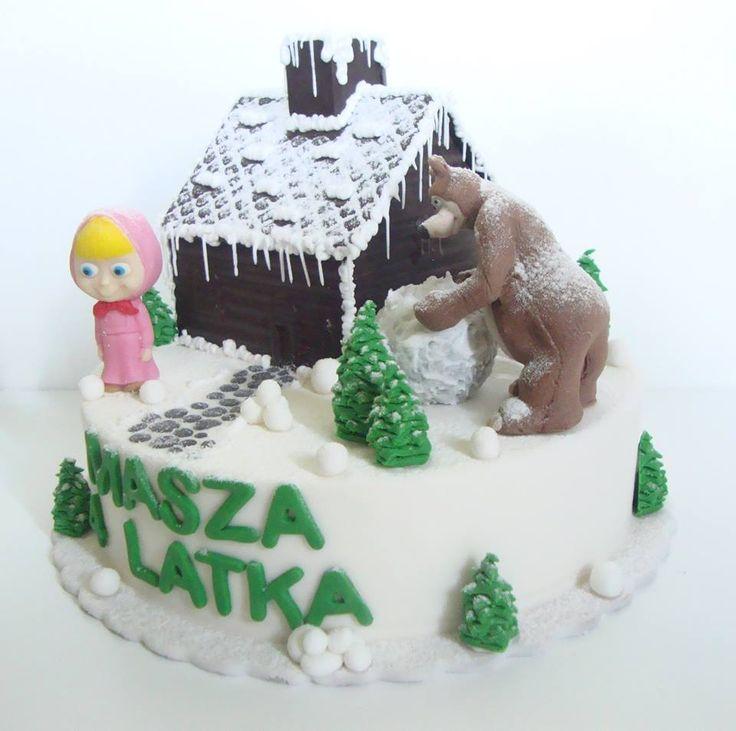 Torty Kraków Cukiernia Gateau Tort Masza i Niedźwiedź zimą