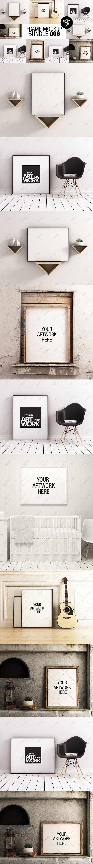 Frame Mockup Bundle 006 - 50% OFF by positvtplus on @creativemarket