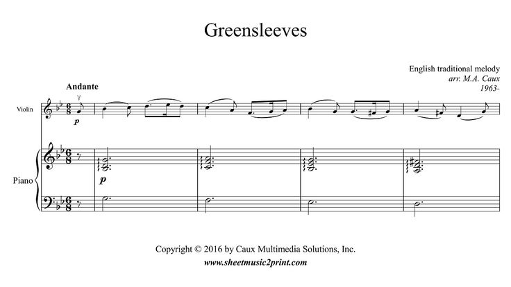 Greensleeves - Violin