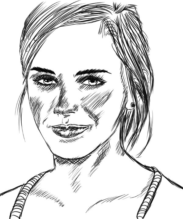 Outra tentativa de retratar a Emma Watson.