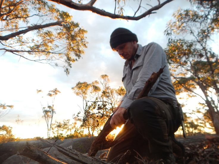 Selfie at dusk using the Laplander saw