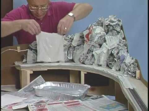 How to Make Easy Hills & Mountains for Model Train Layouts and Dioramas - YouTube