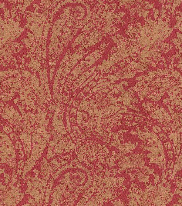 Waverly Upholstery Fabric-Burnished Scroll/Garnet