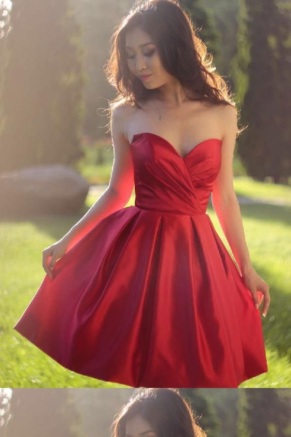 30448d4beaf Fine Homecoming Dresses Red Sweetheart Neck Wine Red Homecoming ...