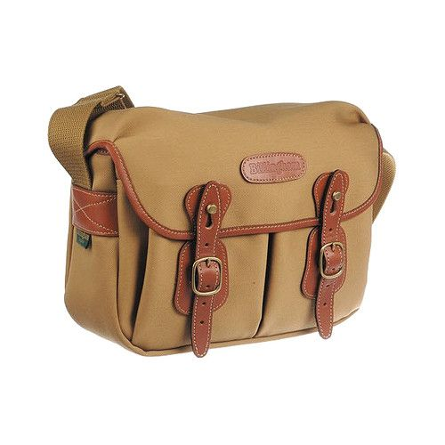 [Billingham] Hadley Small Khaki FibreNyte Tan Leather Nickel Camera Shoulder Bag