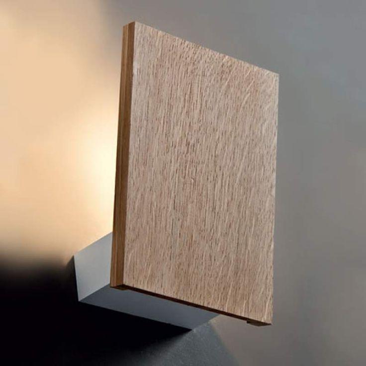 Holz Wandleuchte Flat Mit Led Mit Bildern Wandbeleuchtung Wandleuchte Wandleuchte Holz