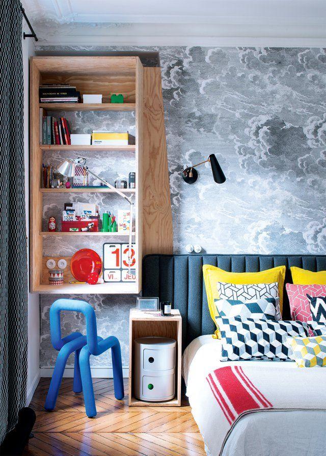Une chambre en couleurs aux airs d'une chambre d'enfant - Marie Claire Maison