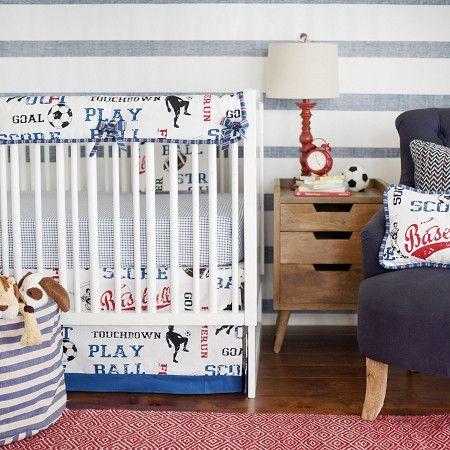 vintage sports crib bedding 1