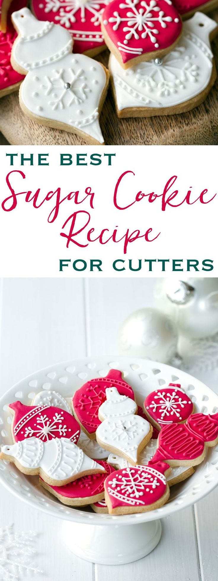 The perfect sugar cookies that never lose their shape. Easy, gorgeous & delicious!