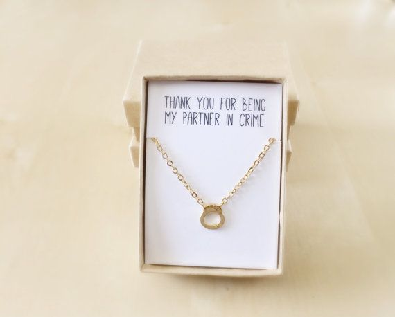 Partners in Crime Necklace Best Friend Jewelry Gold by VerseShop