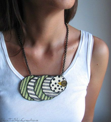 SkinToSkinCreations-''free bird'' leather necklace