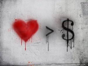 amor é más, dinheiro é menas.