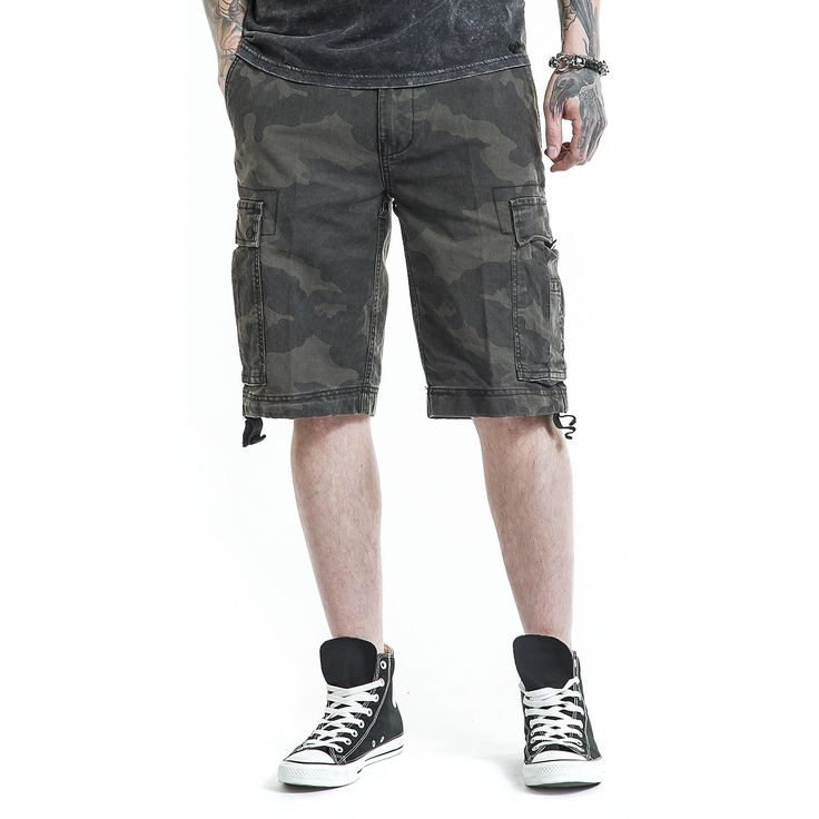 "#Pantaloncini ""Vintage Shorts"" della collezione Black Premium by EMP in stile Vintage."