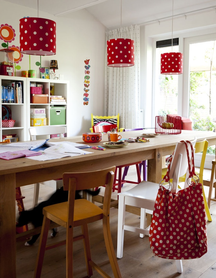 Polka Dots In The Art Room Find This Pin And More On Quirky Dining Ideas
