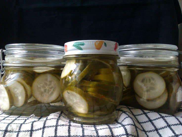 Mijn Verzamelde Recepten: Komkommers zoetzuur