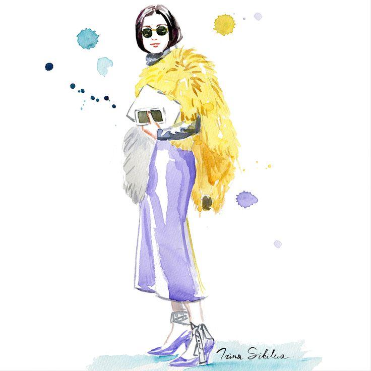 Fashion illustration, by Irina Sibileva