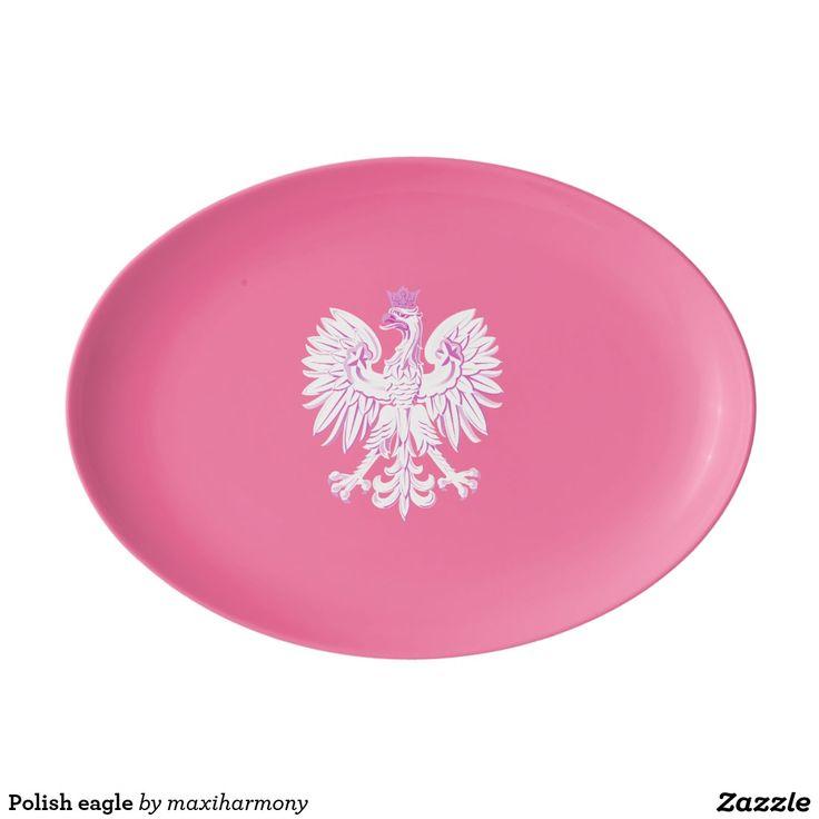 Polish eagle porcelain serving platter