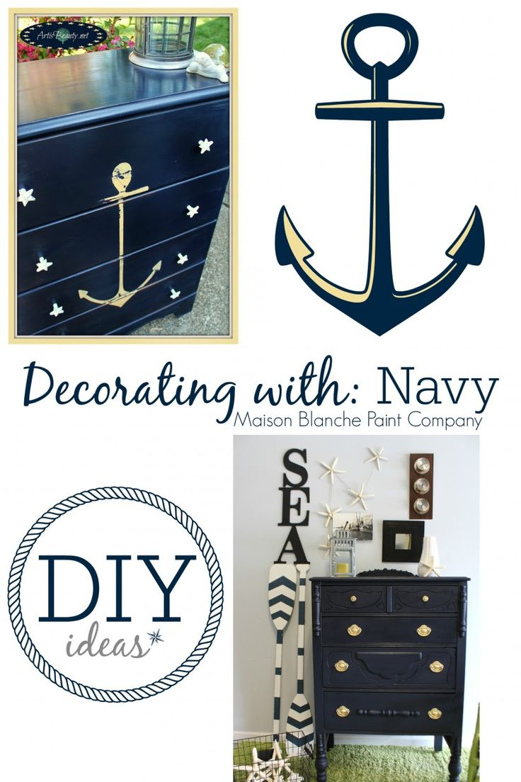 Paint Makeover Decorating Ideas With Navy