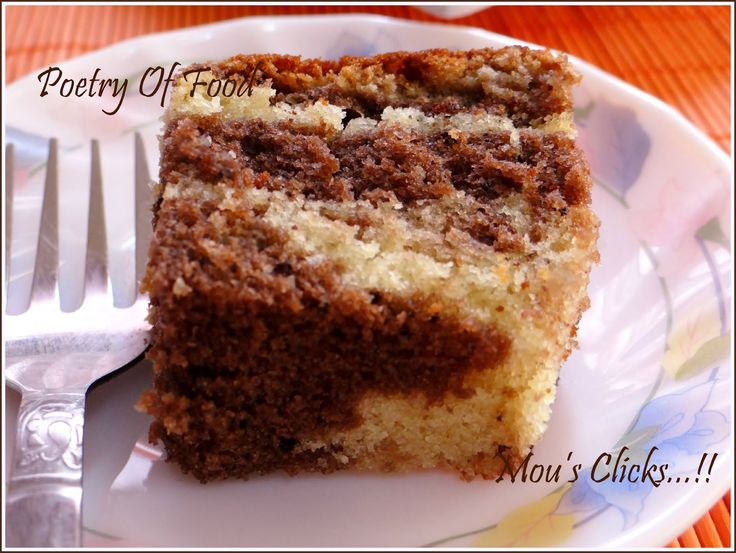 Poetry Of Food: Marbel Cake...TGI Friday special Snacks...!!!