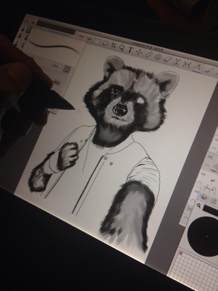 #Ilustración #Digital hecha en #Sketchbook Pro y #Photoshop #Mapashito #Autoretrato  con #Wacom #Cintiq 12 wx  R3X #Diseño Rich Erretresequis