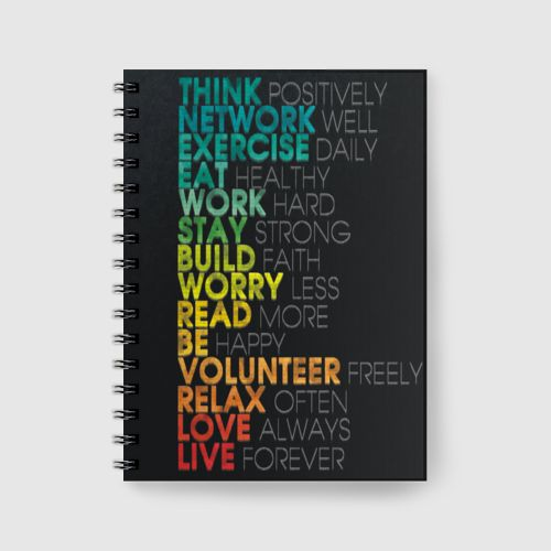 Inspirational Notebook dari Tees.co.id oleh URI ART