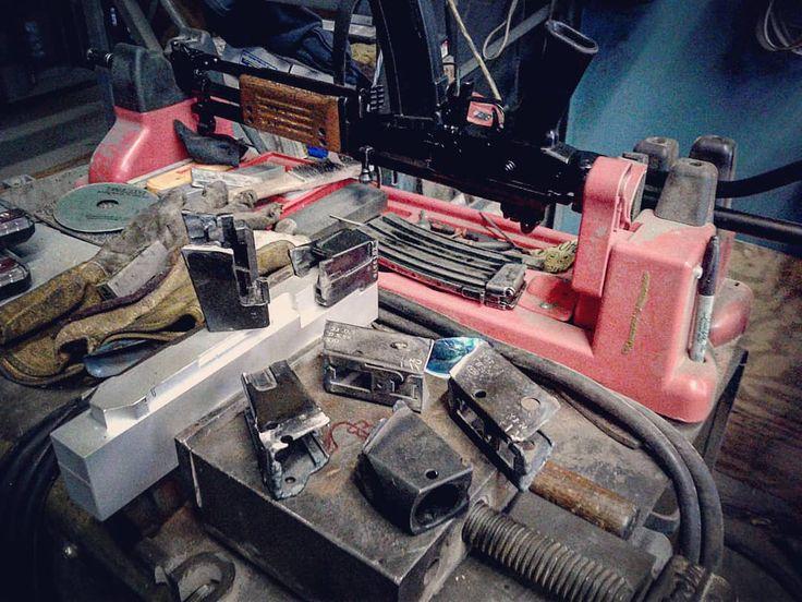 Some lunch time #fuckery #round2 #galilreweld #projectgalil #galil #gunbuilding #gunsmithing #welding #guns #gunstuff #isrealimilitaryindustries #idf #kalashlife