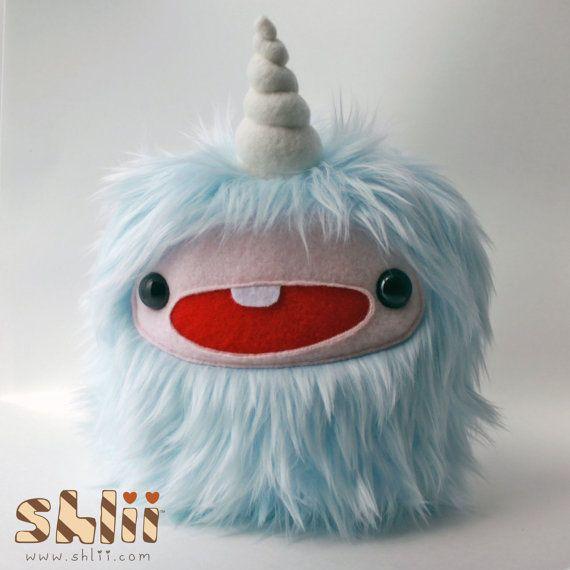 Yeti Unicorn Pastel Monster Plush by ShliiKawaii on Etsy, $35.00
