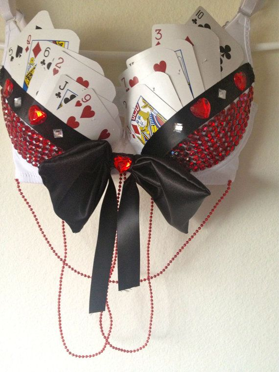Samantha's Wonderland Playing Cards Lingerie Set by Amscustombras                                                                                                                                                                                 More