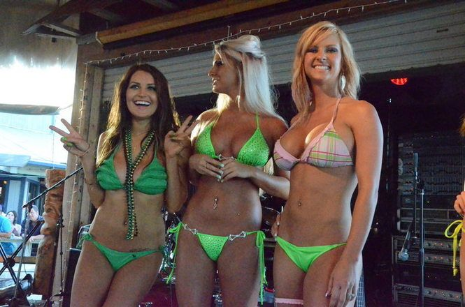 St Patrick S Day Green Bikini Contest On Pensacola Beach