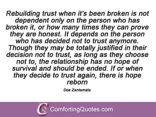 Quotes About Trust: 25+ Best Ideas About Rebuilding Trust Quotes On Pinterest