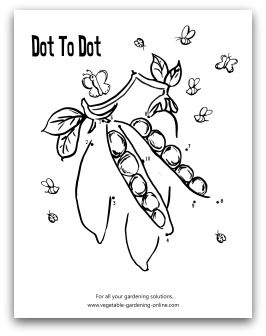 Free printable vegetable garden dot-to-dot activity