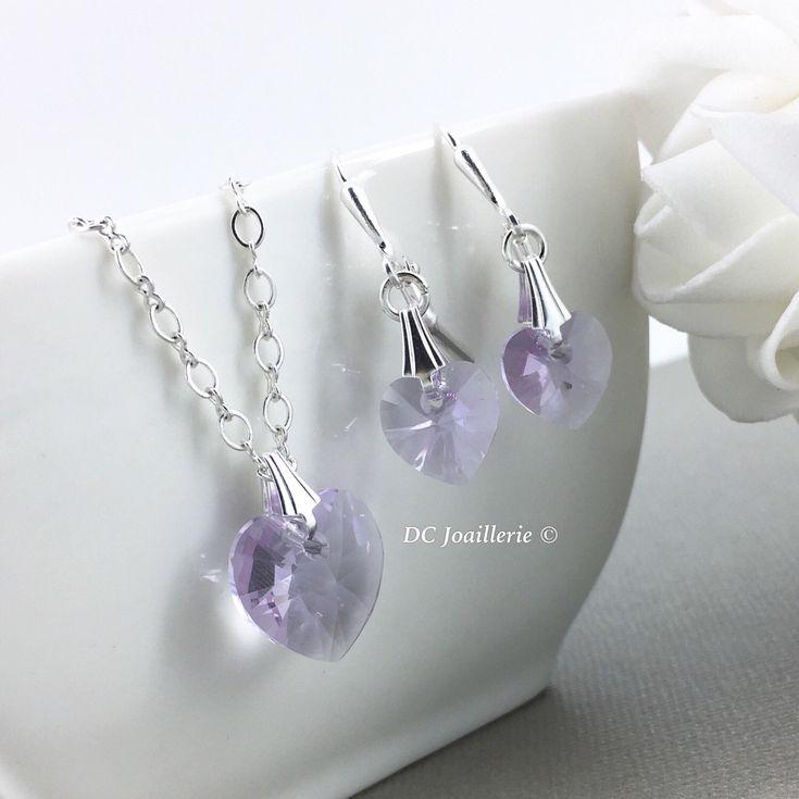Swarovski Heart Pendant Necklace Purple Crystal Necklace Bridesmaid Jewelry Flower Girl Gift Flower Girl Necklace Gift for Her by dcjoaillerie on Etsy https://www.etsy.com/ca/listing/489611231/swarovski-heart-pendant-necklace-purple