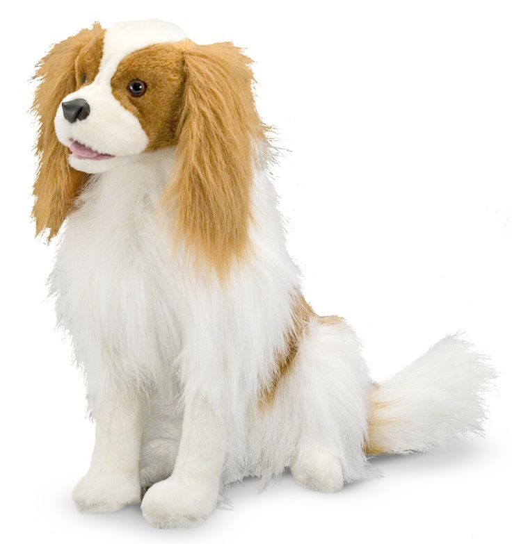 - Surprisingly realistic stuffed animal - All the quality you expect from Melissa and Doug - Built to stay in sitting position - The lovable spaniel will gladly guard your room - Fantastic attention t