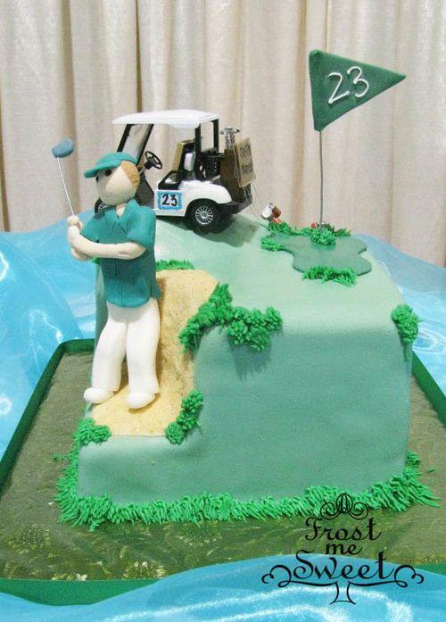 Golfing Grooms Cake
