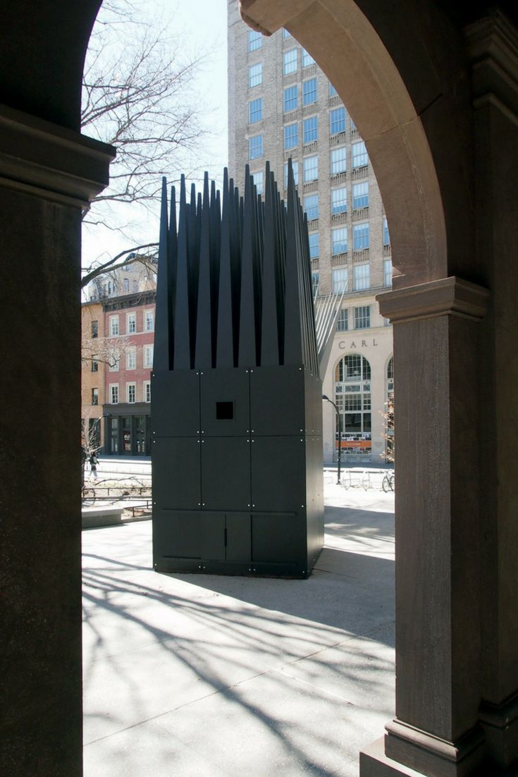 As part of an exhibition highlighting the work of architect John Hejduk, The Cooper Union has reconstructed his Jan Palach Memorial in the adjacent Cooper Square Park, done in conjunction with the New York City Department of Transportation's Art Program. (Photo: © John Hill/World-Architects)