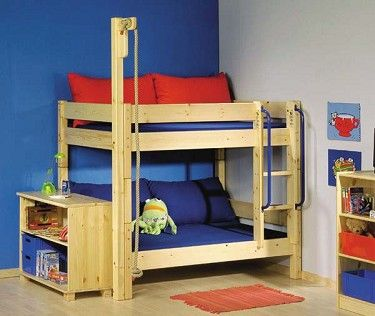 Toddler Bunk Bed  Love The Rope! It Could Be Rigged To Be