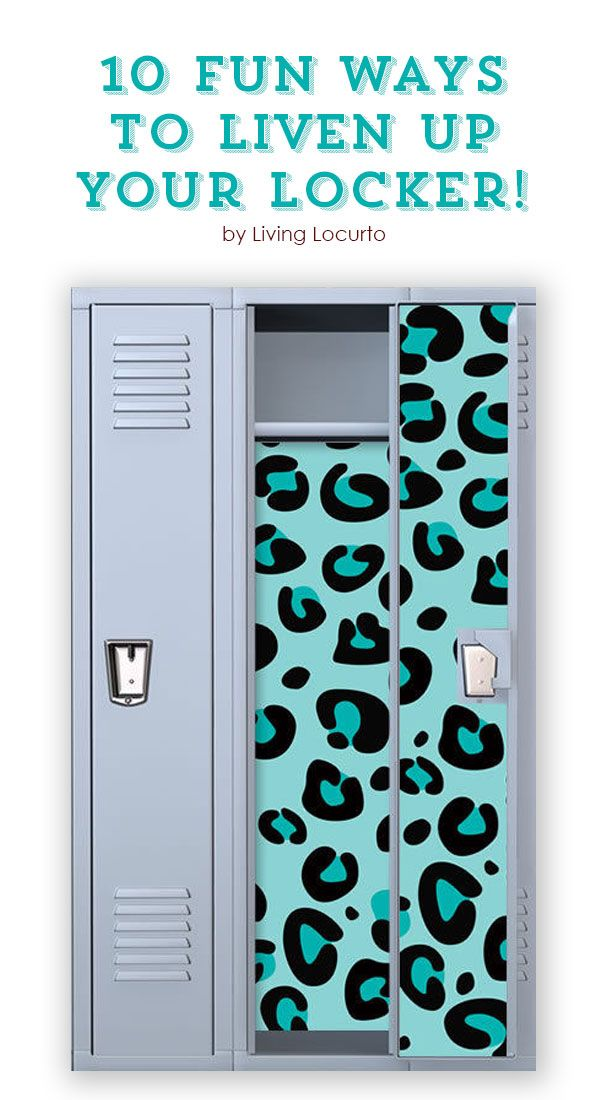 10 Fun Ways to Liven Up Your Locker! School lockers don't have to be boring... spruce them up with these cool school locker must haves!