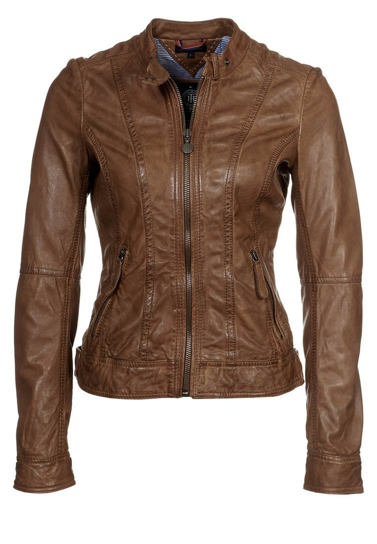 NEW AXSON - Leather jacket - brown