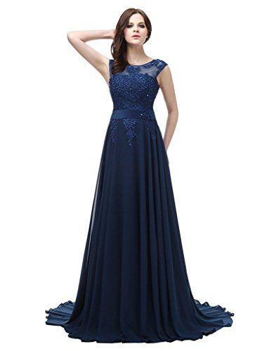 JYDress da donna abiti da sera appliques perline chiffon abito formale e festa 2016 per sposa Red 54: Amazon.it: Abbigliamento