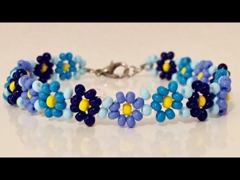 DIY - Papatya bileklik .Daisy bracelet - YouTube