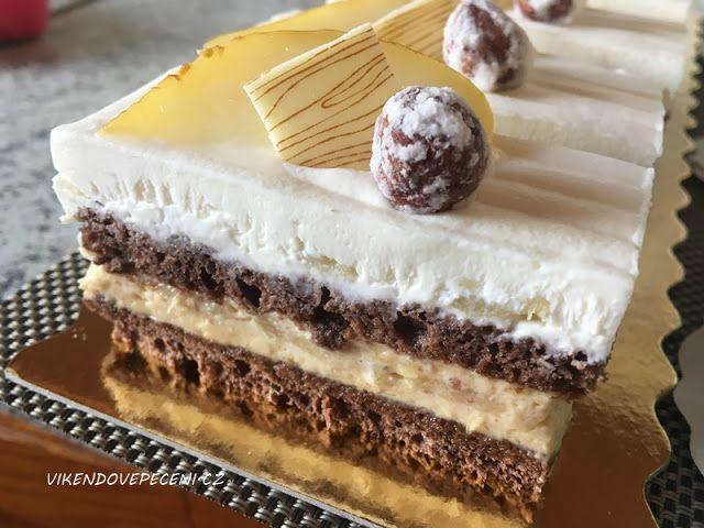 VÍKENDOVÉ PEČENÍ: Kakaové řezy s hruškami a slaným karamelem