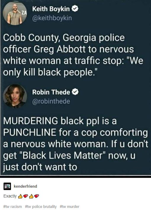 This is SO UNBELIEVABLY SICK!!!! How heartless, broken, racist, evil, and mentally ill are you, that you could use killing black as the punchline????!